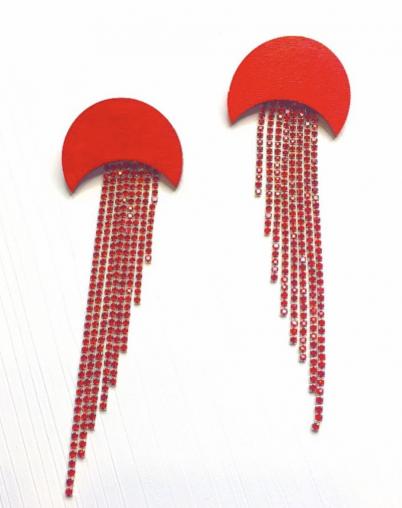 Серьги красные