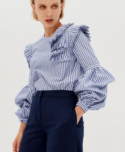Блузка из хлопка Alesia в стиле оригами