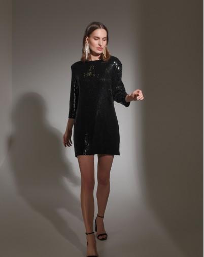 Платье-мини с пайетками PL019