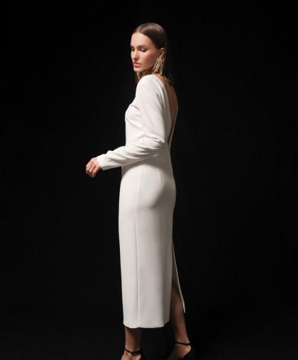 Платье-футляр с V- вырезом на спинке PL033А