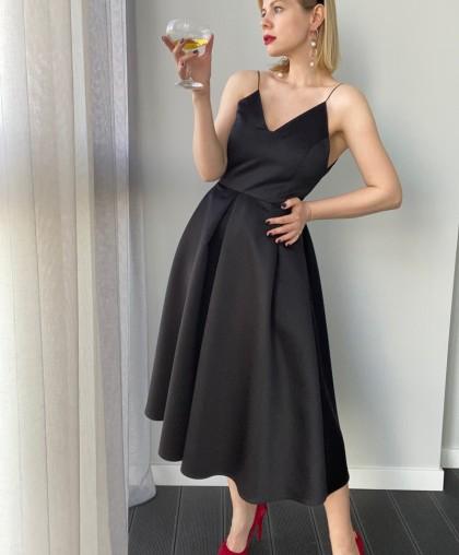 Платье на бретелях BLACK