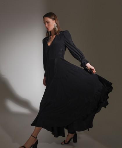 Асимметричное платье макси PL032