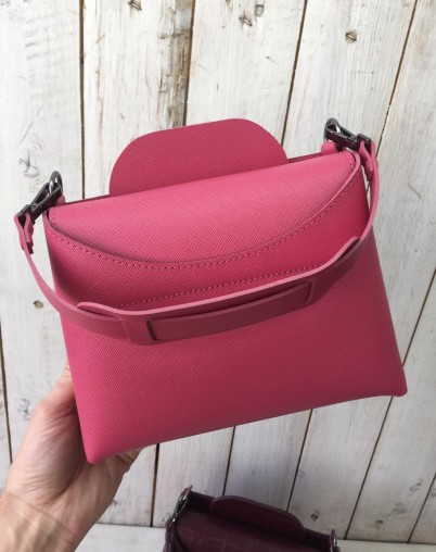 Сумка миди  розовая