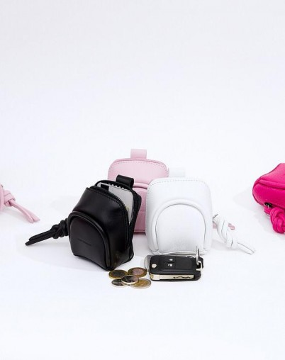 Микро сумка розовая