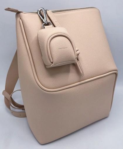 Мини-рюкзак бежевый