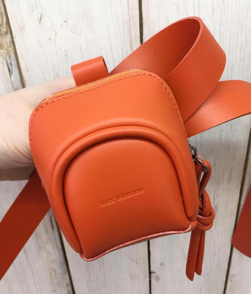 Микро сумка оранжевая