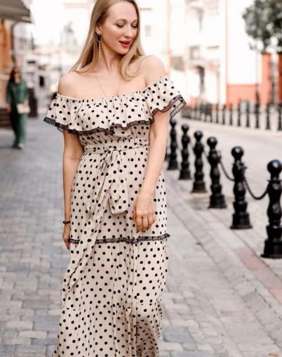Платье летнее в горох
