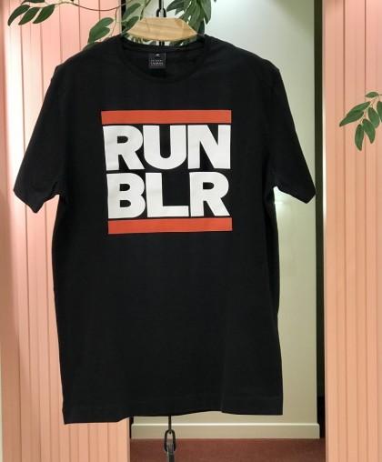 Футболка RUN BLR черная