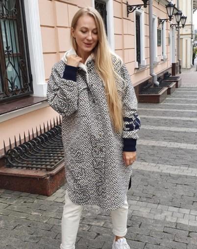 Пальто рубашечного кроя