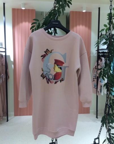 Платье-байка с принтом