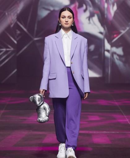 Спортивные брюки фиолетовые