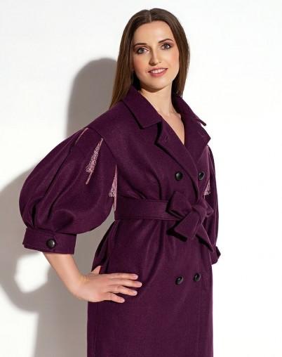 Пальто МЕЛАНИ фиолетовое