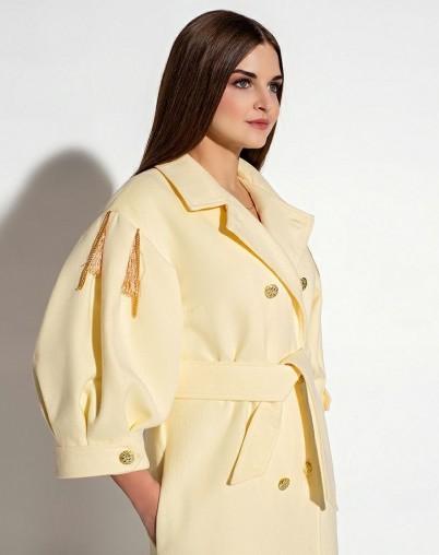 Пальто МЕЛАНИ желтое