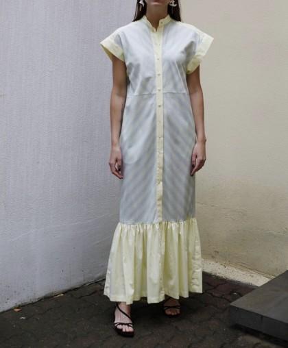 Платье хлопковое в мелкую полоску