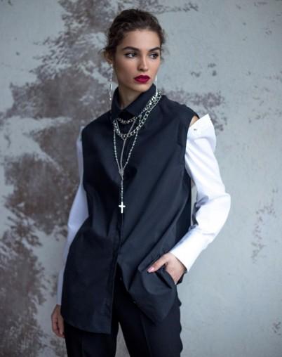 Блузка женская со съемными рукавами