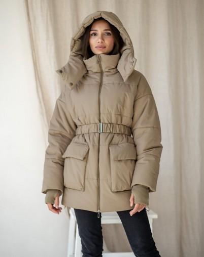Куртка женская утепленная бежевая