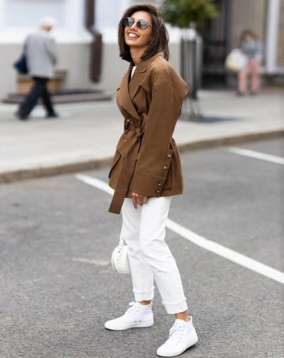 Куртка-тренч женская