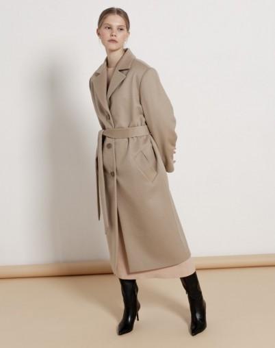 Пальто прямое из шерсти и кашемира