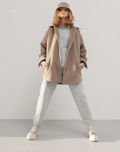 Пальто-рубашка из шерсти и кашемира