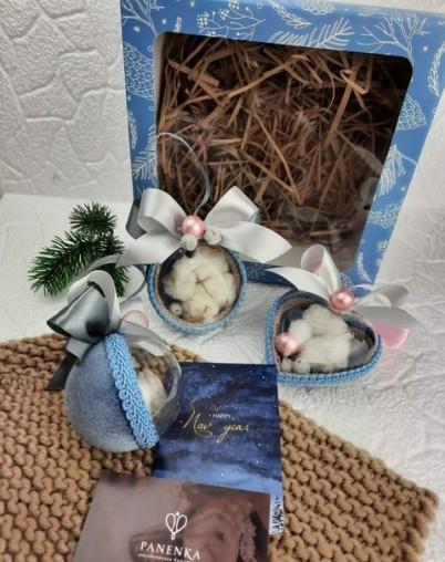 Комплект новогодних шаров на ёлку