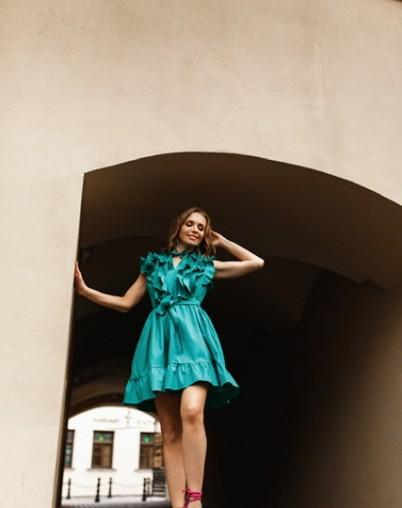 Платье хлопковое зеленое