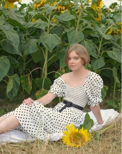 Платье Романтика в горошек