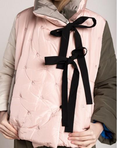 """Куртка с завязками """"Пудровые птички""""деми"""