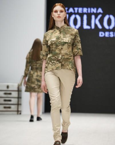 Дизайнерская рубашка в стиле сафари бренда Екатерины Волковой RESALE
